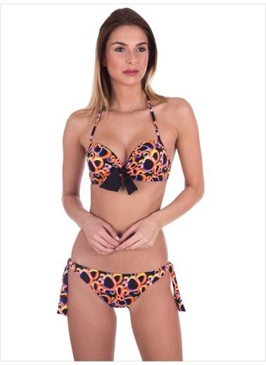 Ayyıldız Destekli Bikini Oranj